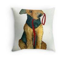 Airedale Terrier Dog Portrait Throw Pillow