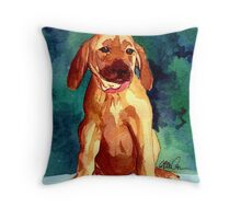 Rhodesian Ridgeback Puppy Dog Portrait Throw Pillow