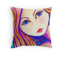 Ariela Bright Sea Maiden Throw Pillow