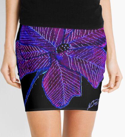 Purple Flower Mini Skirt