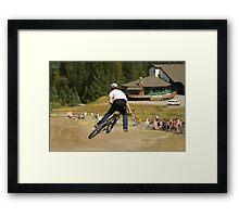 Mountain bike Slopestyle Framed Print