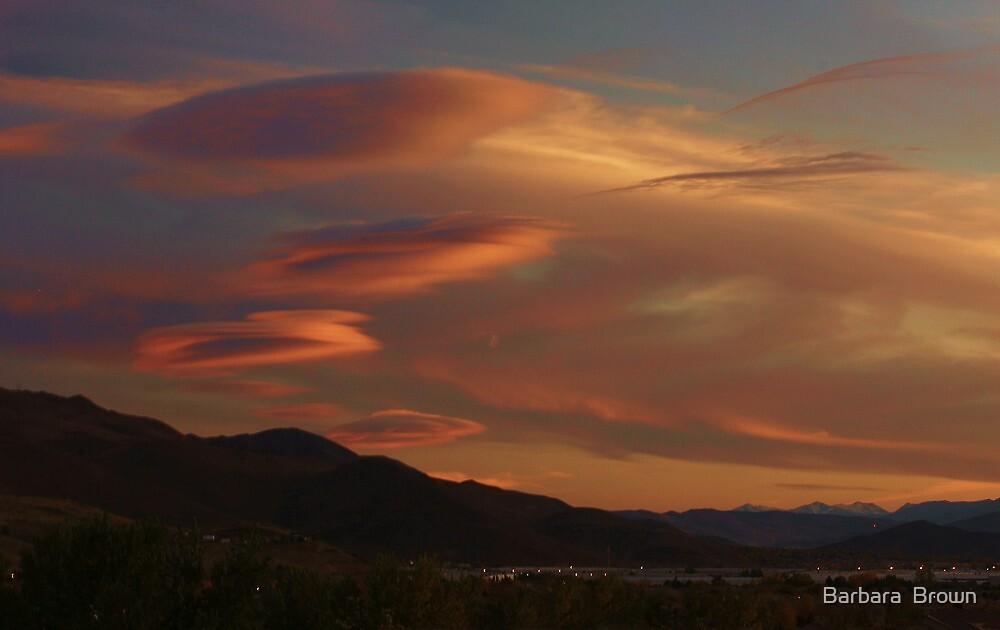 Alien Clouds by Barbara  Brown