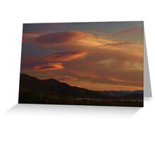 Alien Clouds Greeting Card