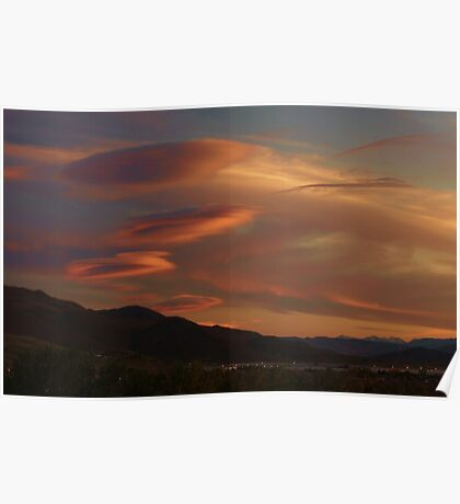 Alien Clouds Poster