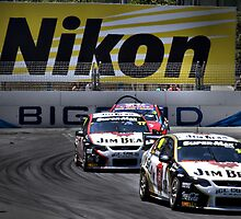 Jim Beam V8 Supercars, Surfers Paradise by Darren Greenwell
