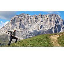 Italian Dolomite farmer Photographic Print
