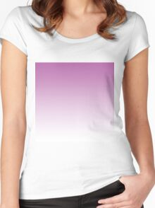 Beautiful Cushions/ Gradient Radiant Orchid Women's Fitted Scoop T-Shirt