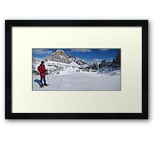 Winter snowshoeing Framed Print