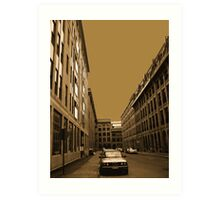 Narrow street (architecture series)!... Art Print