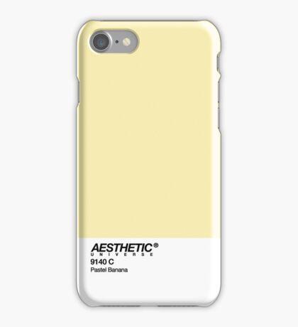 AESTHETIC UNIVERSE PASTEL BANANA DESIGN iPhone Case/Skin