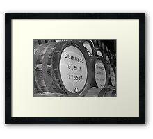 Guinness barrels Framed Print
