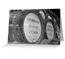 Guinness barrels Greeting Card