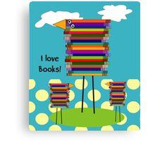 Book Lovers Book Birds Canvas Print