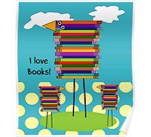 Book Lovers Book Birds Poster