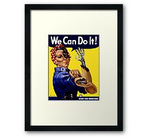 We can do it! Terminator style poster  Framed Print
