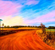 Sunset On Red Dirt Roads - Georgia Rural Landscapes by Mark Tisdale