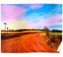 Sunset On Red Dirt Roads - Georgia Rural Landscapes Poster