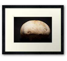 half moon mushroom Framed Print