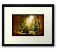 The King's Humility Framed Print