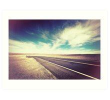 Road in the Desert Art Print