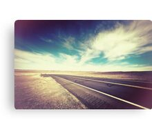 Road in the Desert Canvas Print