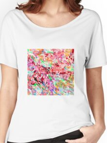 PINK ink ART,  LAYER upon layer hand DRAWN digi Women's Relaxed Fit T-Shirt