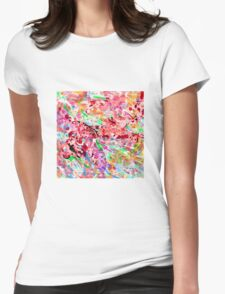PINK ink ART,  LAYER upon layer hand DRAWN digi Womens Fitted T-Shirt
