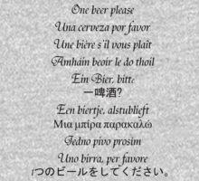 International Language of Beer One Piece - Long Sleeve