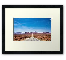 Highway 163 in Utah Framed Print