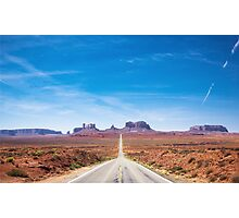 Highway 163 in Utah Photographic Print