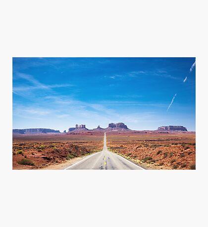 Highway 163 in Utah Photographic Print