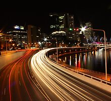 freeway lights by Matt  Williams
