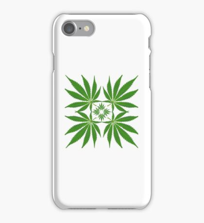 repeated leaf pattern (transparent background) iPhone Case/Skin