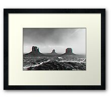 Monument Valley in 3D Framed Print