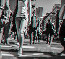 Crowd walking in Manhattan in 3D by Giorgio Fochesato