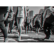 Crowd walking in Manhattan in 3D Photographic Print