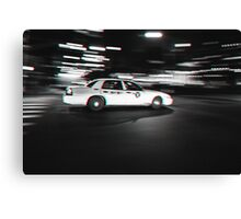 Stereoscopic Taxi in New York Canvas Print
