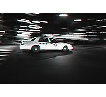 Stereoscopic Taxi in New York Photographic Print