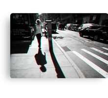 Walking in Manhattan in 3D Canvas Print