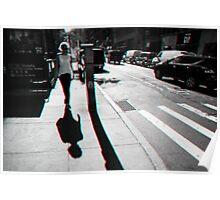 Walking in Manhattan in 3D Poster