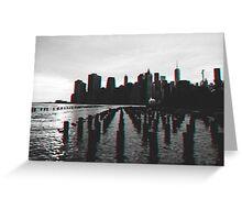 New York City Skyline in 3D Greeting Card