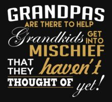 Grandpas Are There To Help Grandkids Get Into Mischief That They Haven't Thought Of Yet - Funny Tshirt by custom333