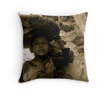 All Work, No Play (1) - Phnom Penh, Cambodia - 2009 Throw Pillow