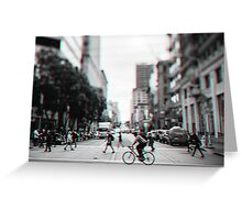 Stereoscopic San Francisco People Greeting Card