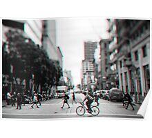 Stereoscopic San Francisco People Poster