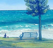 COTTESLOE BEACH BATHERS by Helen  Keen