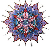 Mandalas ... Circle Art with Heart  by danita clark