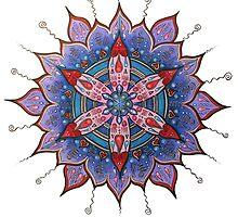 Mandalas ... Circle Art with Heart  by danita clark
