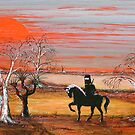 """Ned Kelly & the Scary Emu"" Original Painting Won the Peoples Choice award in Fremantle Exhibition. Original Sold by EJCairns"