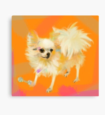 Dog Chihuahua Orange Canvas Print